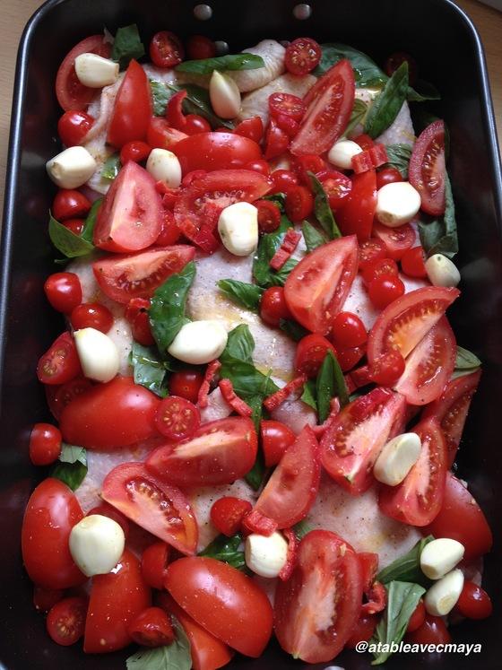 poulet aux tomates et pommes-de-terre fondantes
