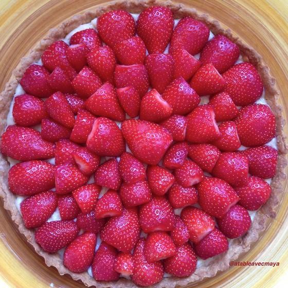 1. tarte aux fraises finie