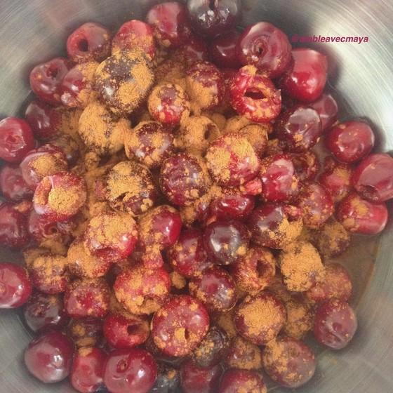 5. début de cuisson des cerises