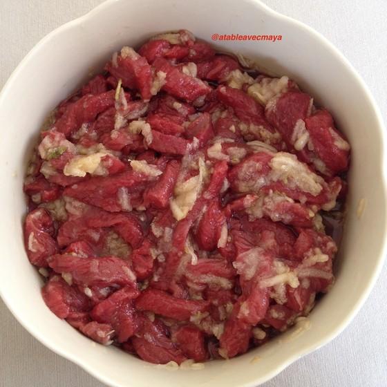 2. marinade viande et poire