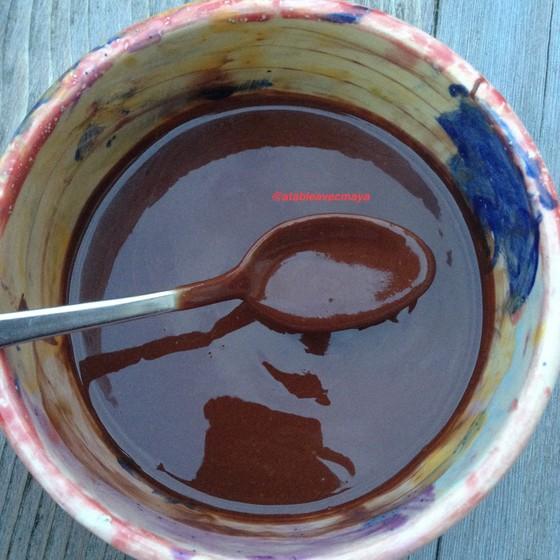 2. chocolat et beurre fondus