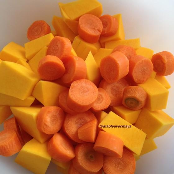 2. Légumes grossièrement coupés