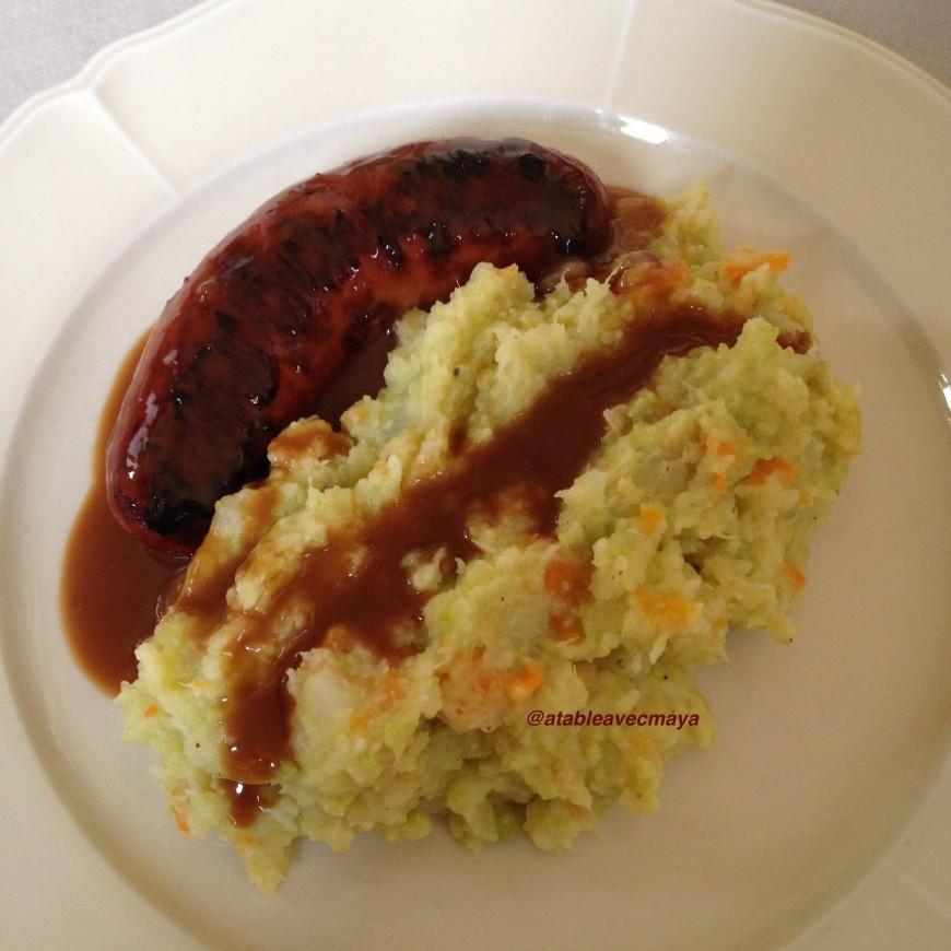 Stoemp saucisse sauce la bi re a table avec maya - Cuisiner le chou romanesco ...