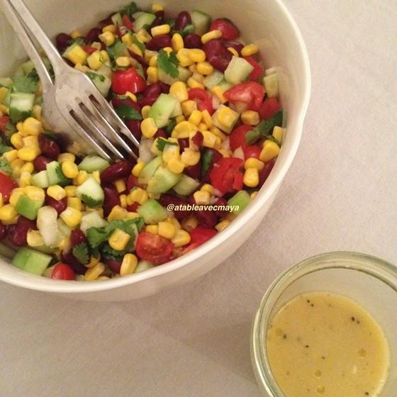 8. salade et vinaigrette