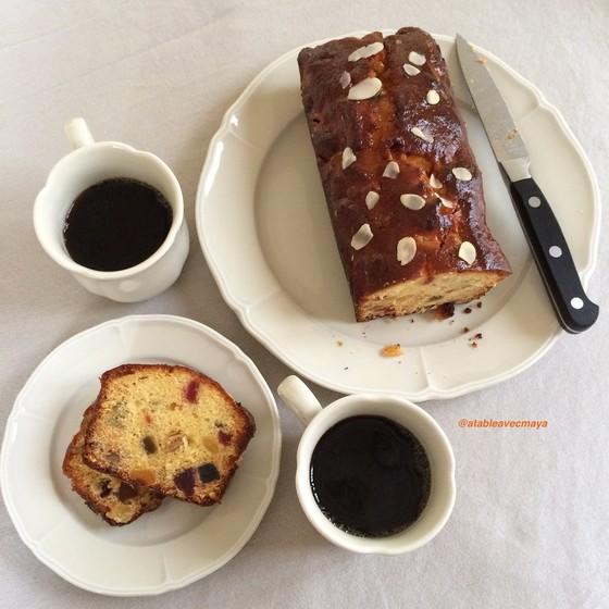 1. cake tranches et café