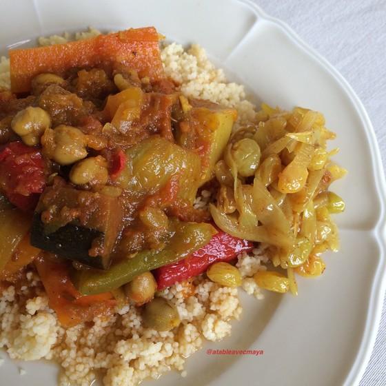1. couscous & raisins