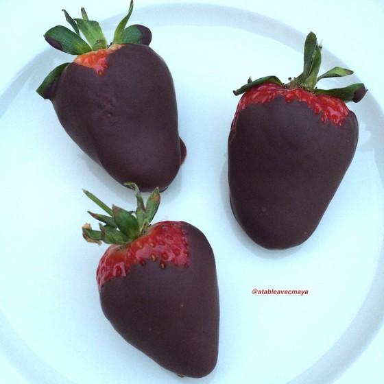 7. assiette fraises au choco