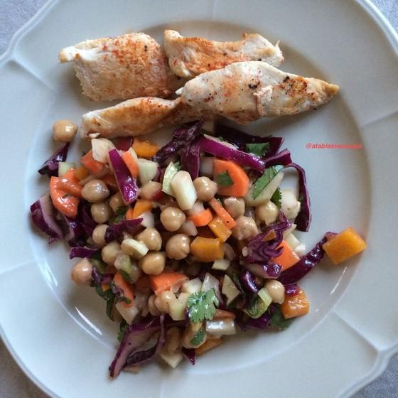 8. assiette salade et volaille