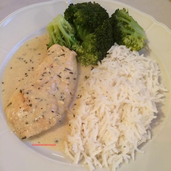 1. assiette poulet creme moutarde