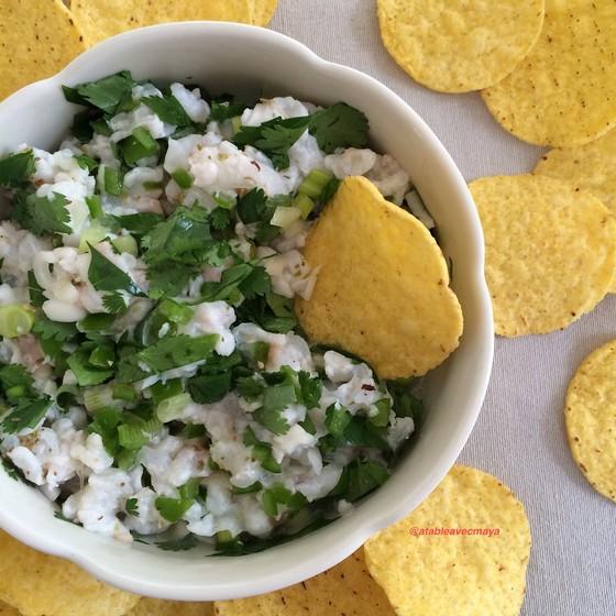 1. ceviche de lotte et nachos