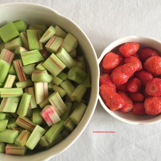 2. fraises et rhubarbe