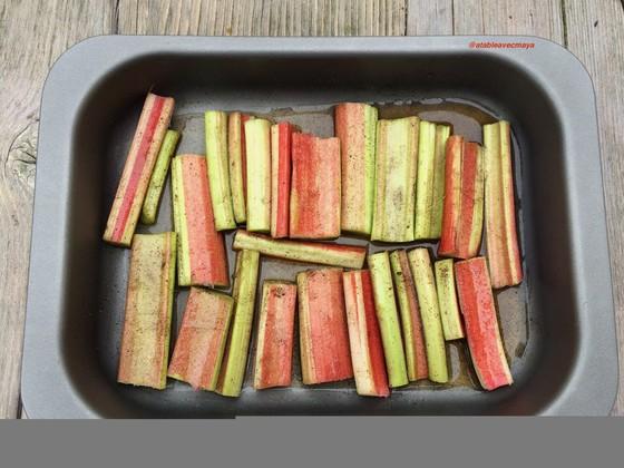 2. rhubarbe, vanille, vin av d'enfourner