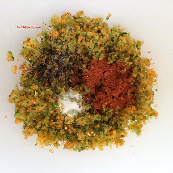4. legumes mixés et épices