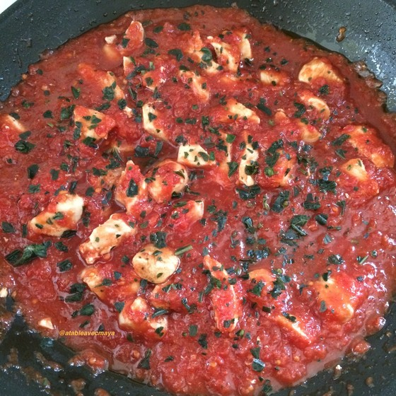 4. plus tomates, vinaigre et basilic