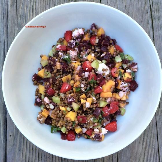 6. salade lentilles fruits
