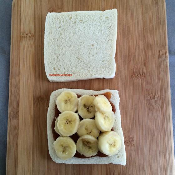 4. on couvre de bananes