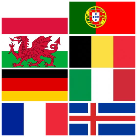8 drapeaux