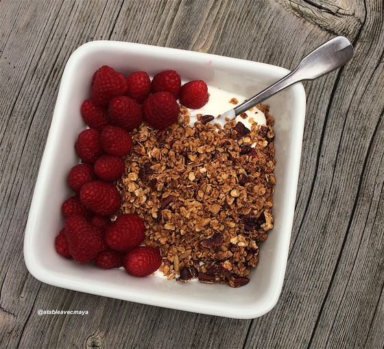 10. granola framboises