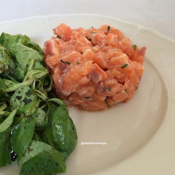 5. Tartare saumon - a table