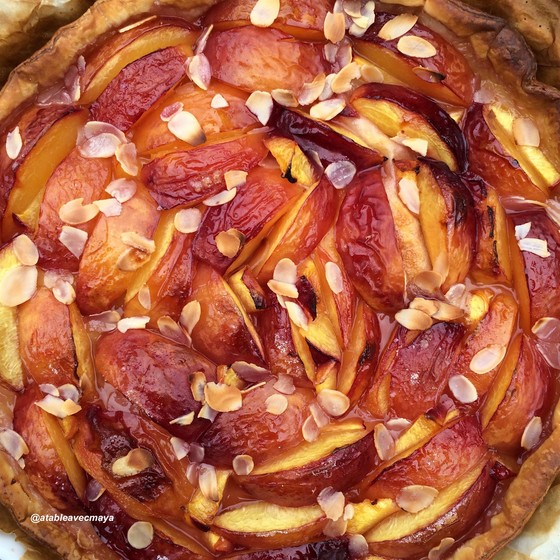 8. Tarte nectarines - fruits cuits