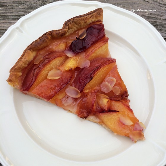 9. Tarte nectarines - part de tarte