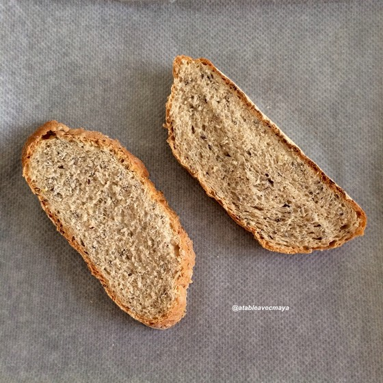 2. tartine avocat mozza - tranches de pain