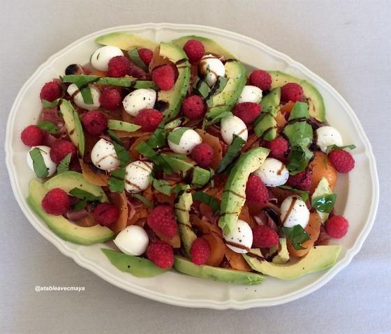 6. Melon jambon revisité coloré - à table