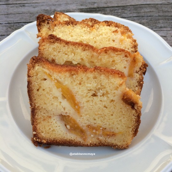 7. cake aux nectarines - tranches