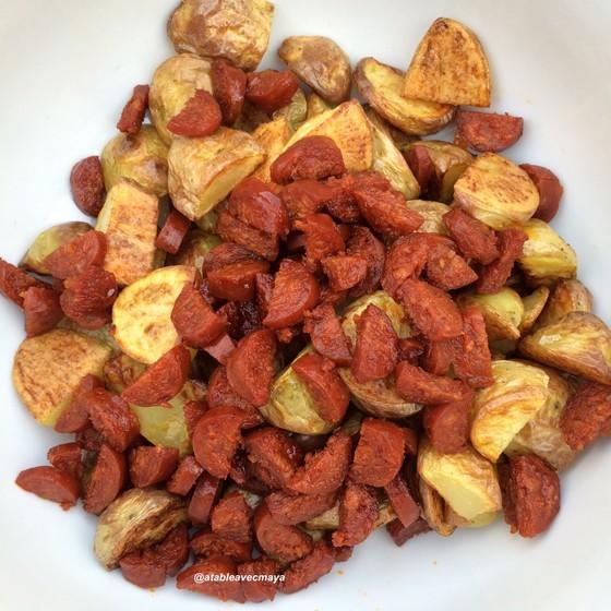 5. patatas bravas - pdt et chorizo