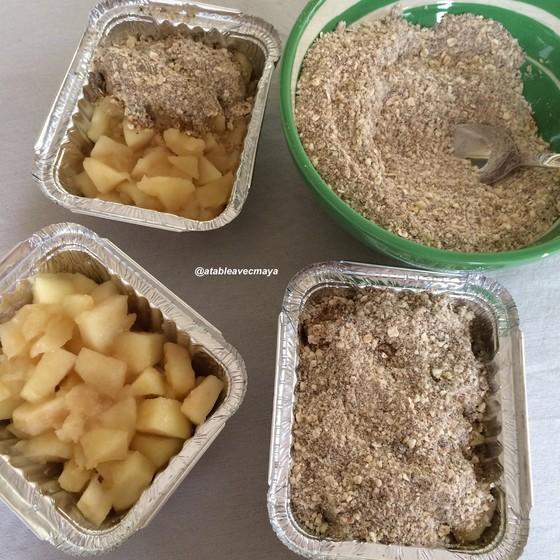 Crumble aux pommes & sirop d'erable
