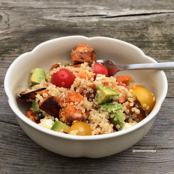 Salade de quinoa et patate douce