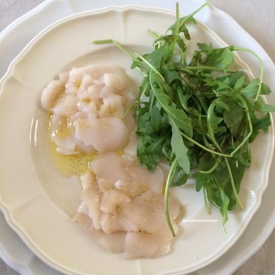 Carpaccio de coquilles Saint-Jacques à la vanille
