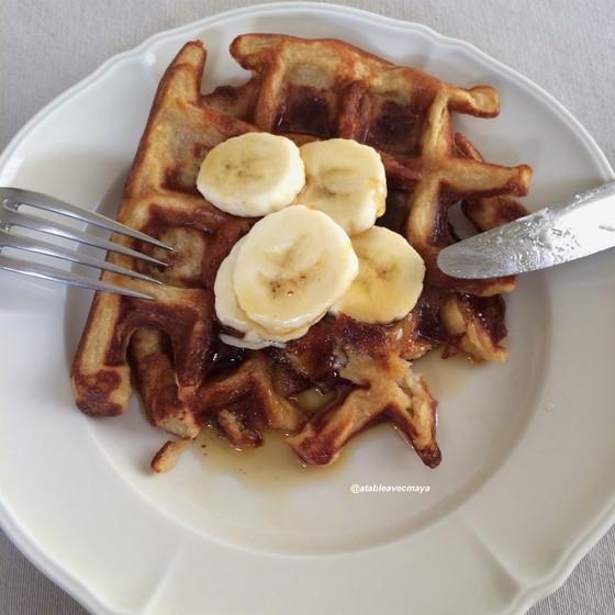 Gaufres a la banane