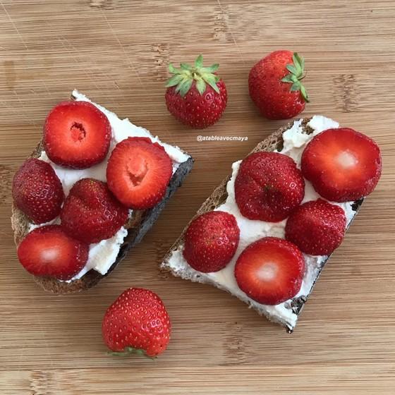 ricotta et fraises