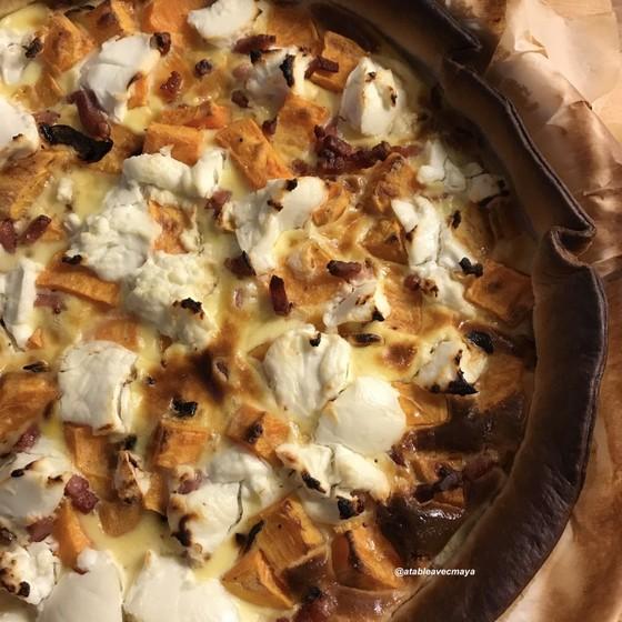 patate douce et chevre frais